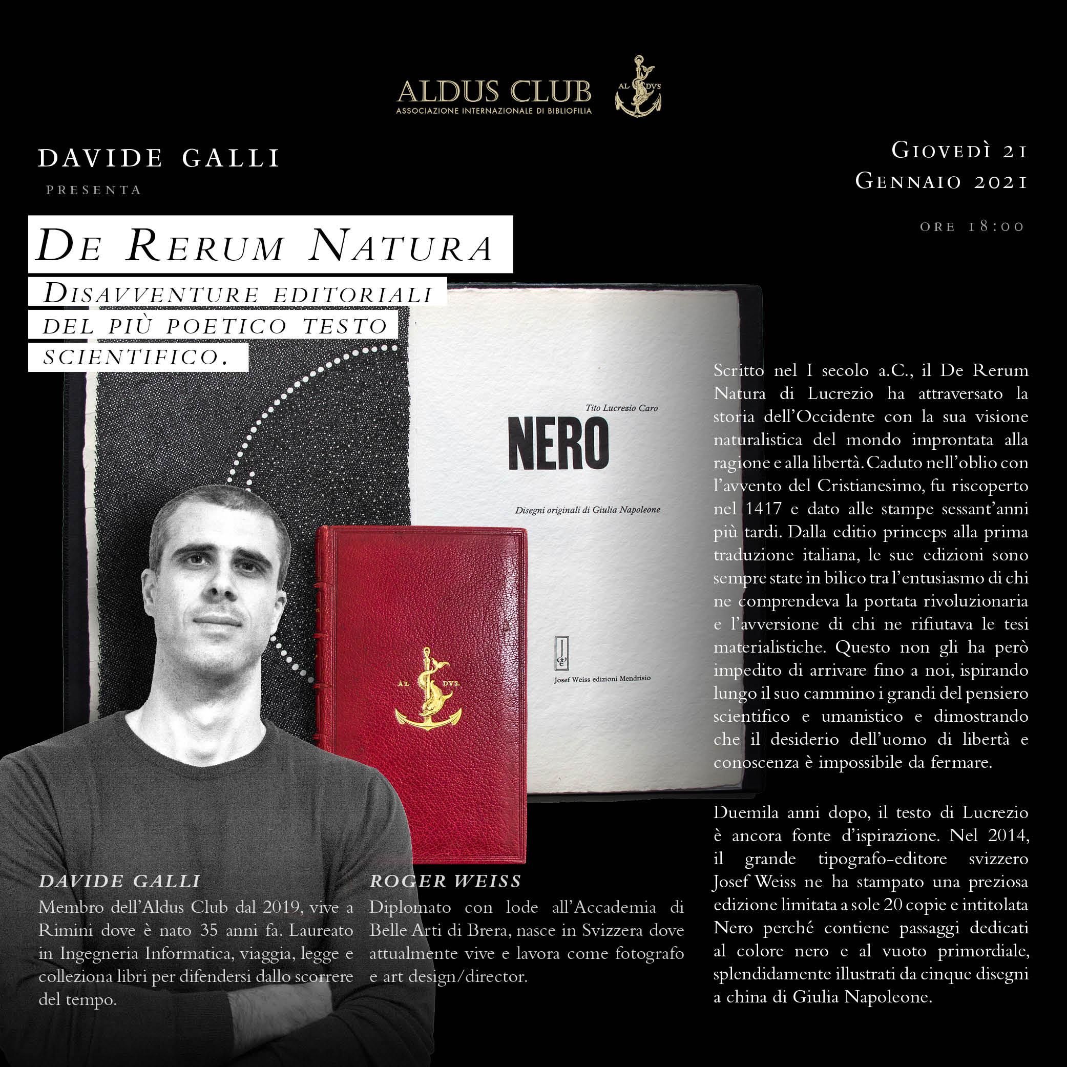 Disavventure editoriali del De Rerum Natura (Con un'appendice sul colore nero)