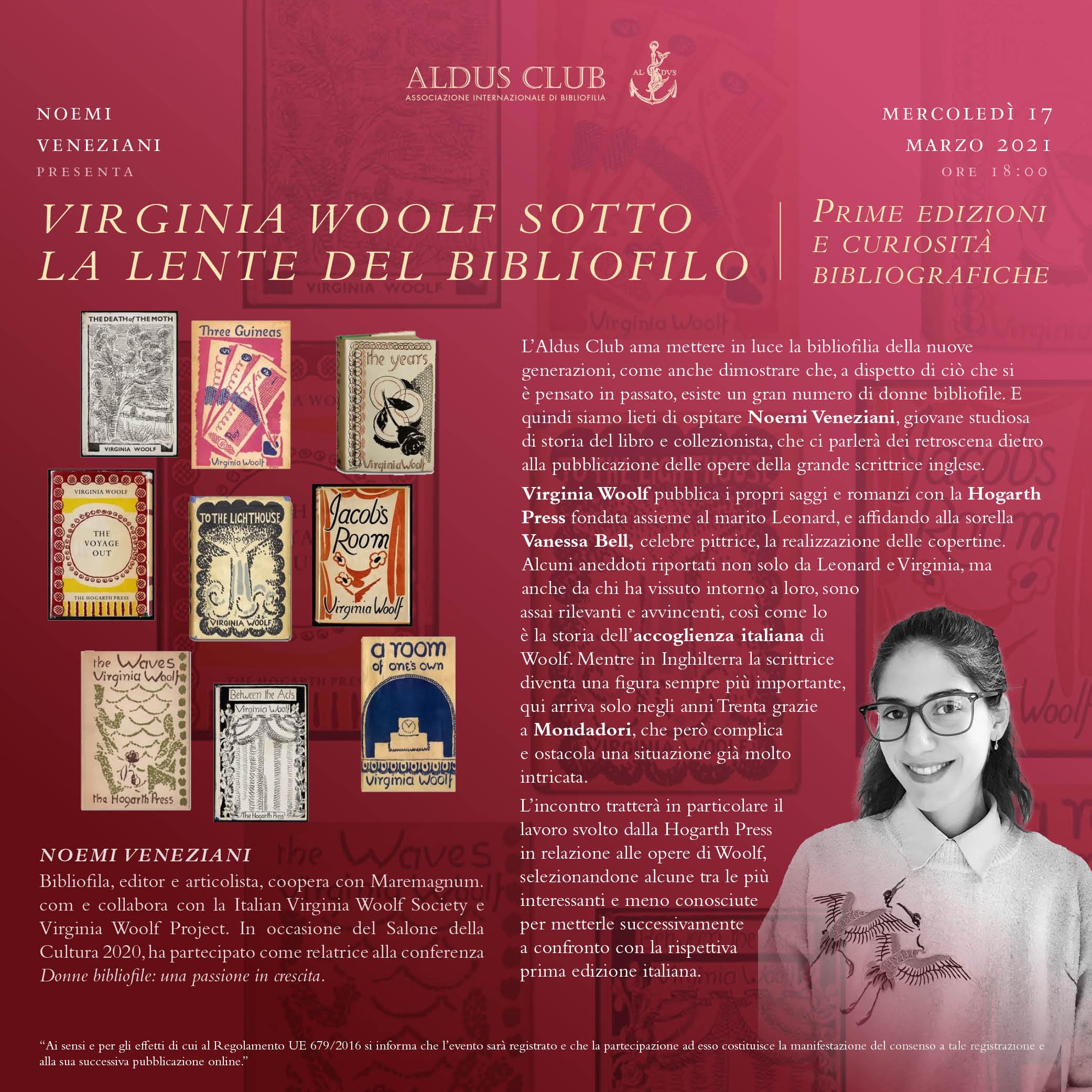 Virginia Woolf sotto la lente del bibliofilo