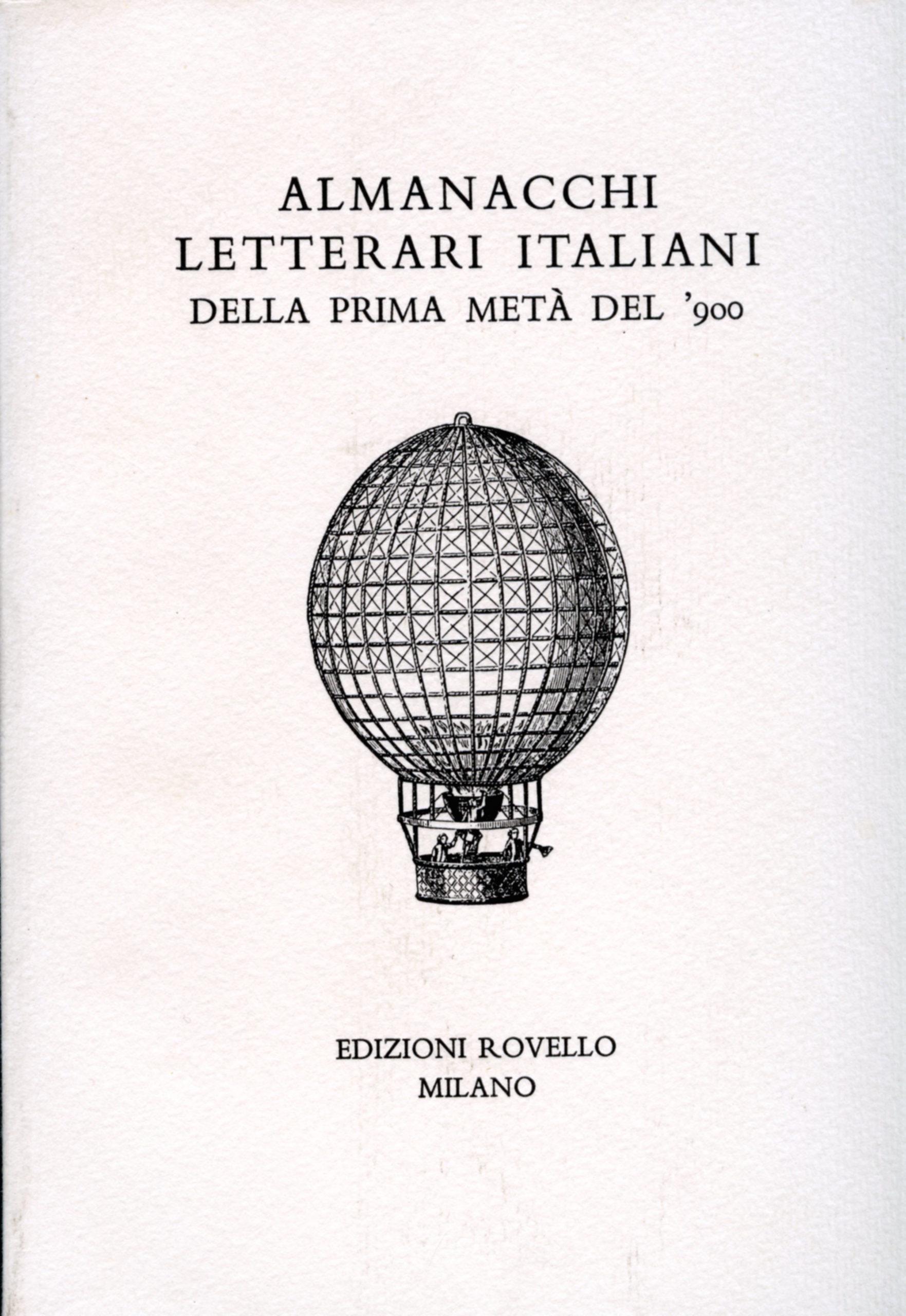 7. Almanacchi letterari novecento (1996)