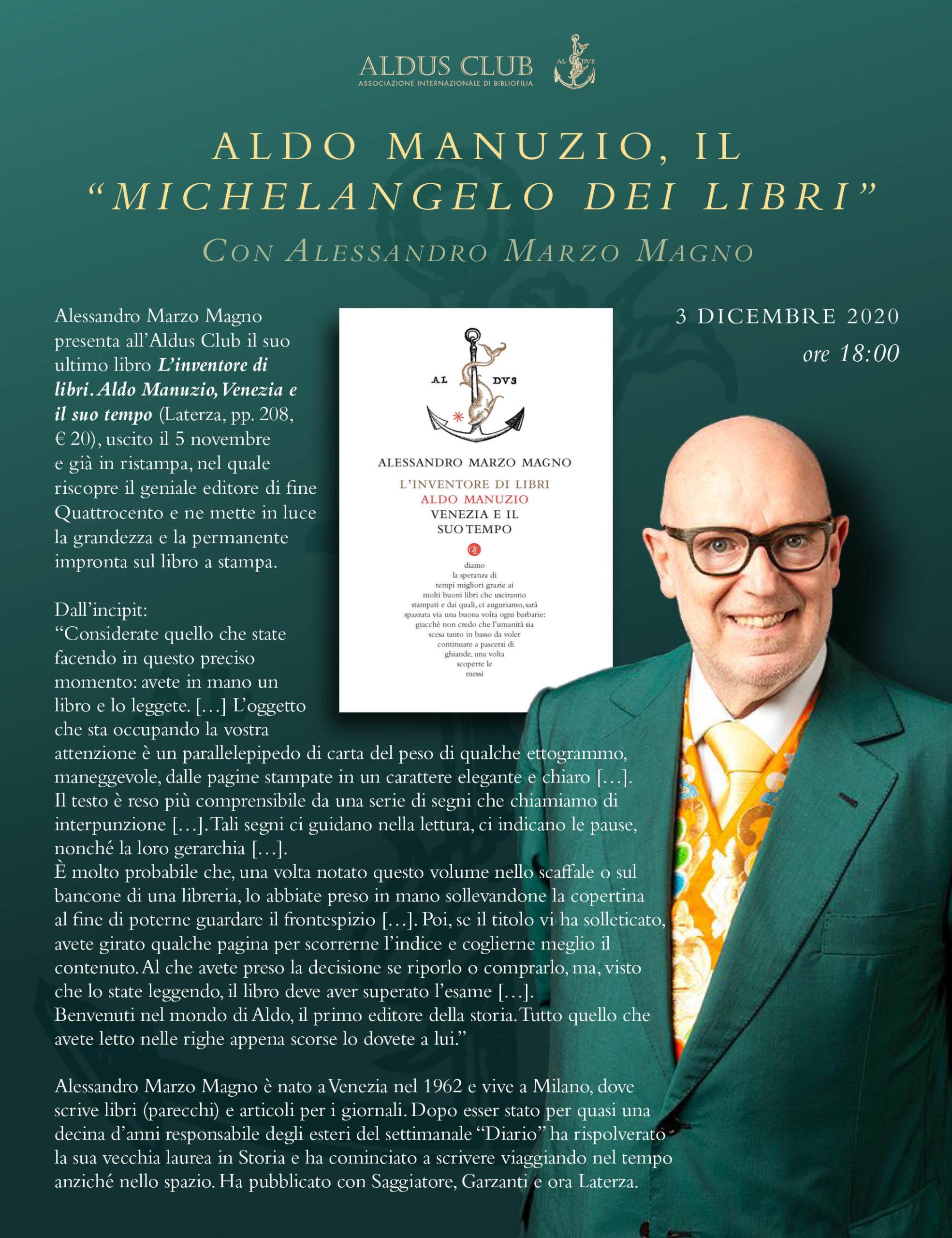 """Aldo Manuzio, il """"Michelangelo dei libri"""""""