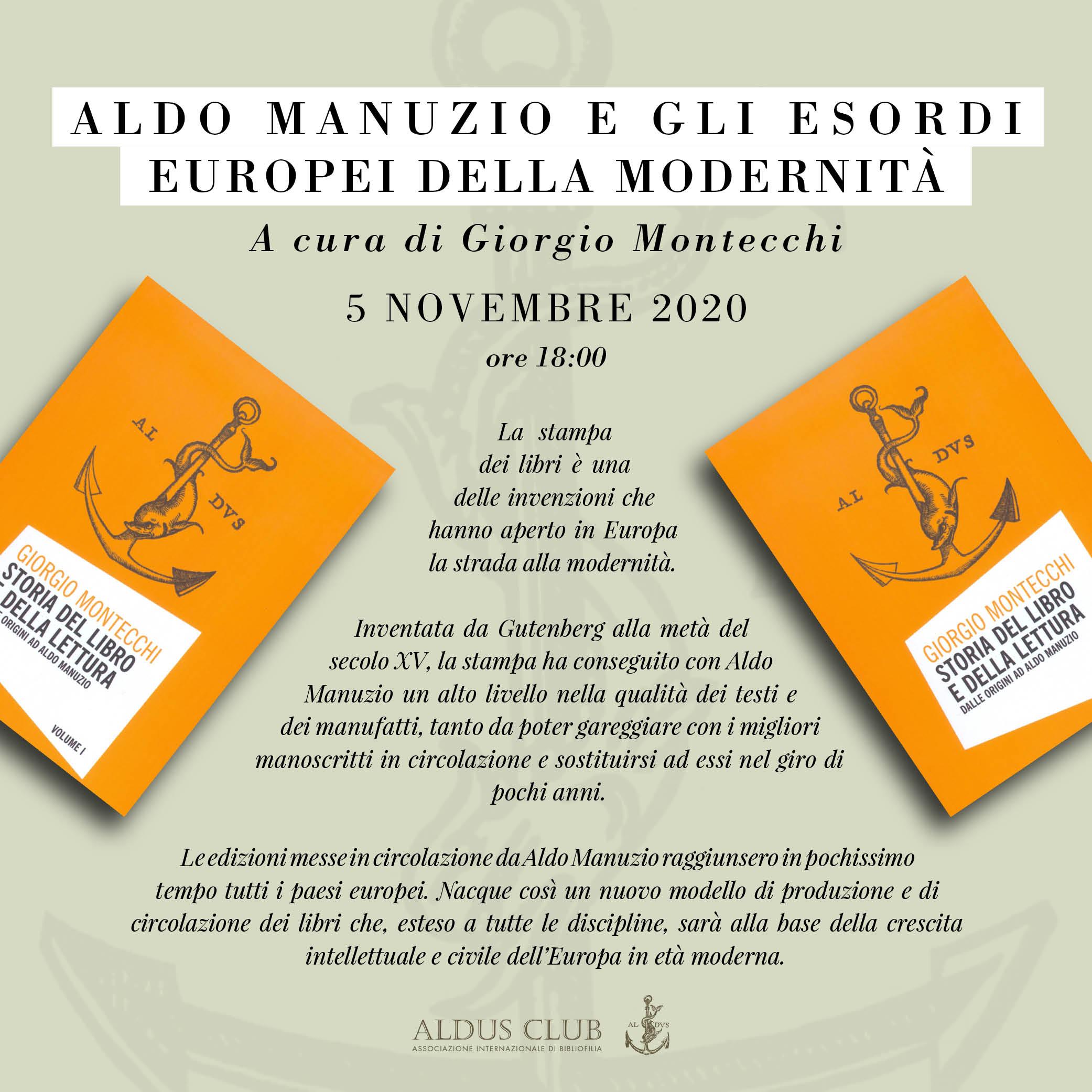 Aldo Manuzio e gli esordi europei della modernità
