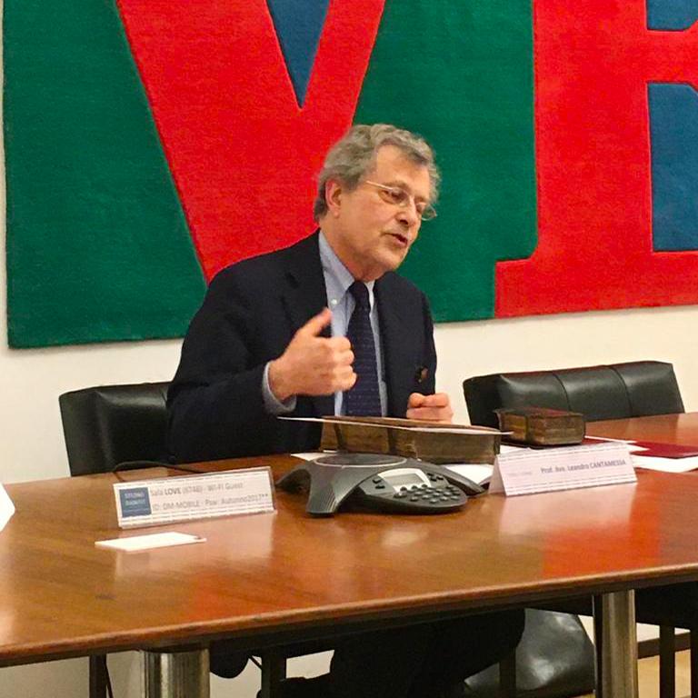 Conferenza Prof. Avv. Leandro Cantamessa