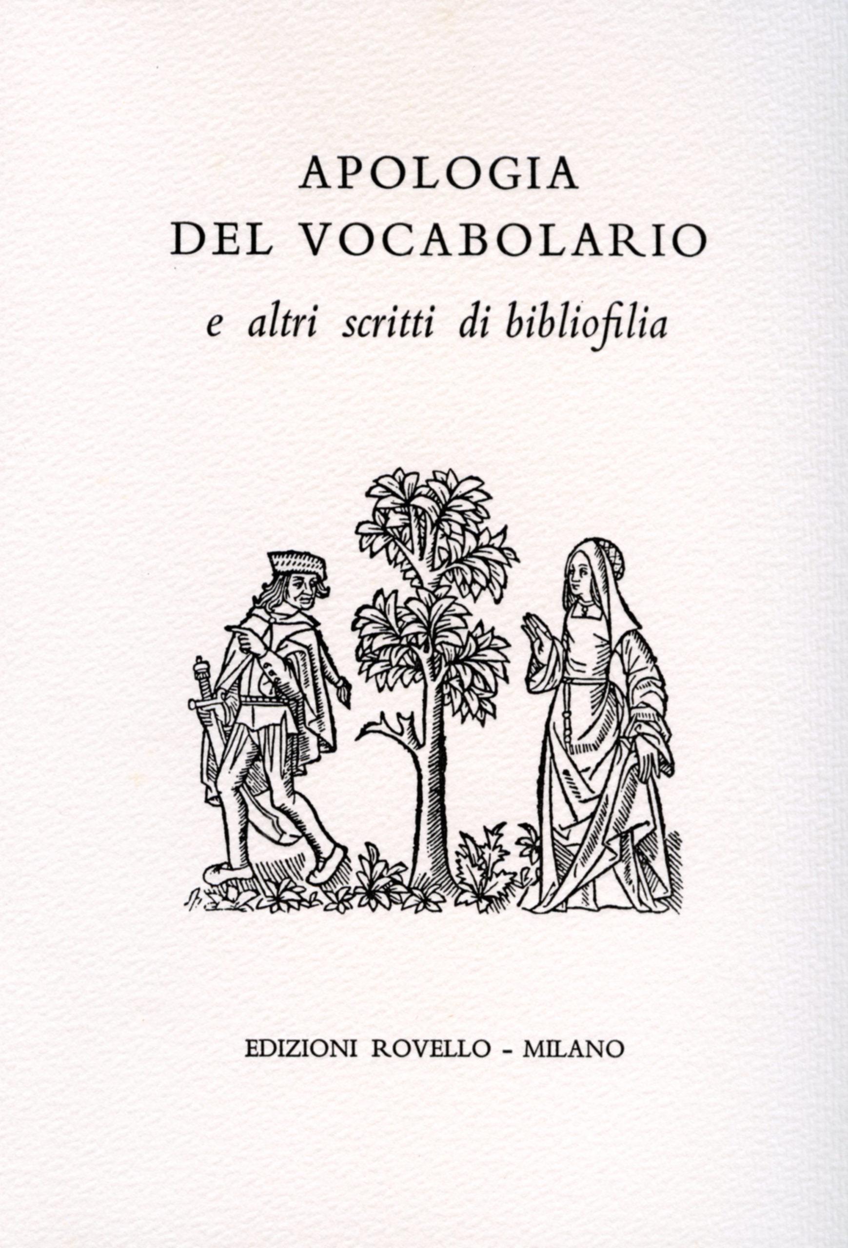 9. Apologia del vocabolario (1998)
